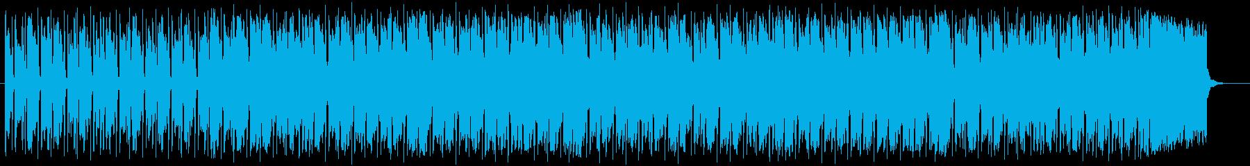 明るい爽やかなシンセサイザーの曲の再生済みの波形