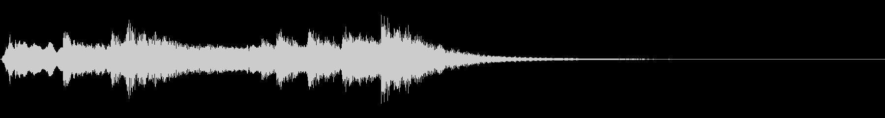 和風ジングル:尺八、筝、太鼓による侘びの未再生の波形