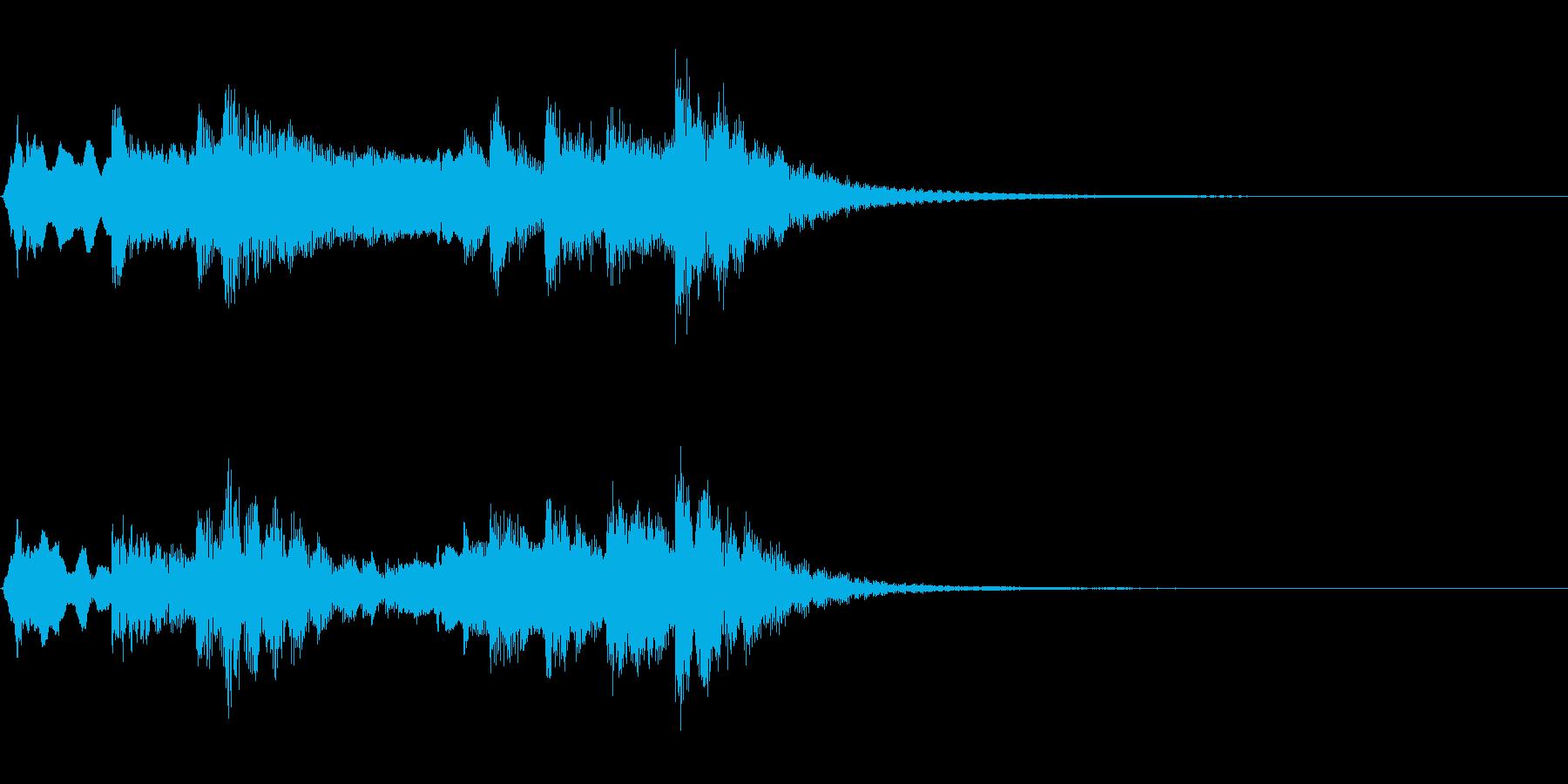 和風ジングル:尺八、筝、太鼓による侘びの再生済みの波形
