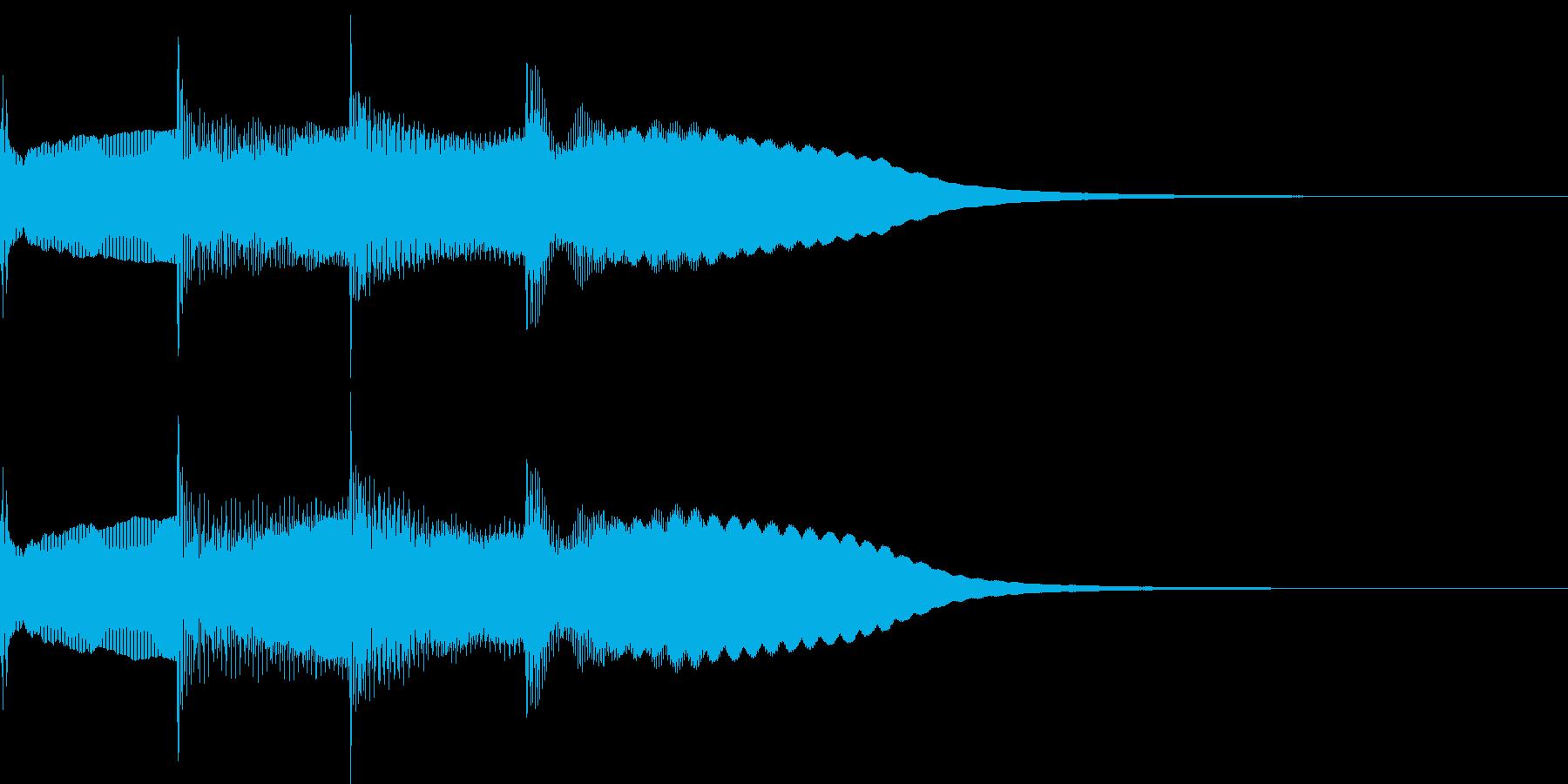 【放送】ピンポンパンポーン↑の再生済みの波形