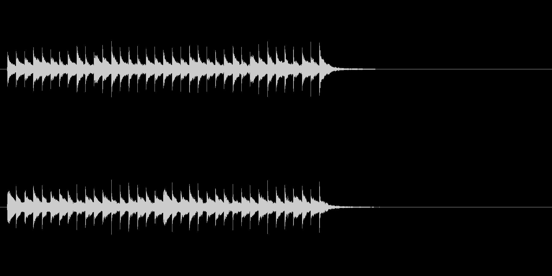 不思議なフレーズのアイキャッチの未再生の波形