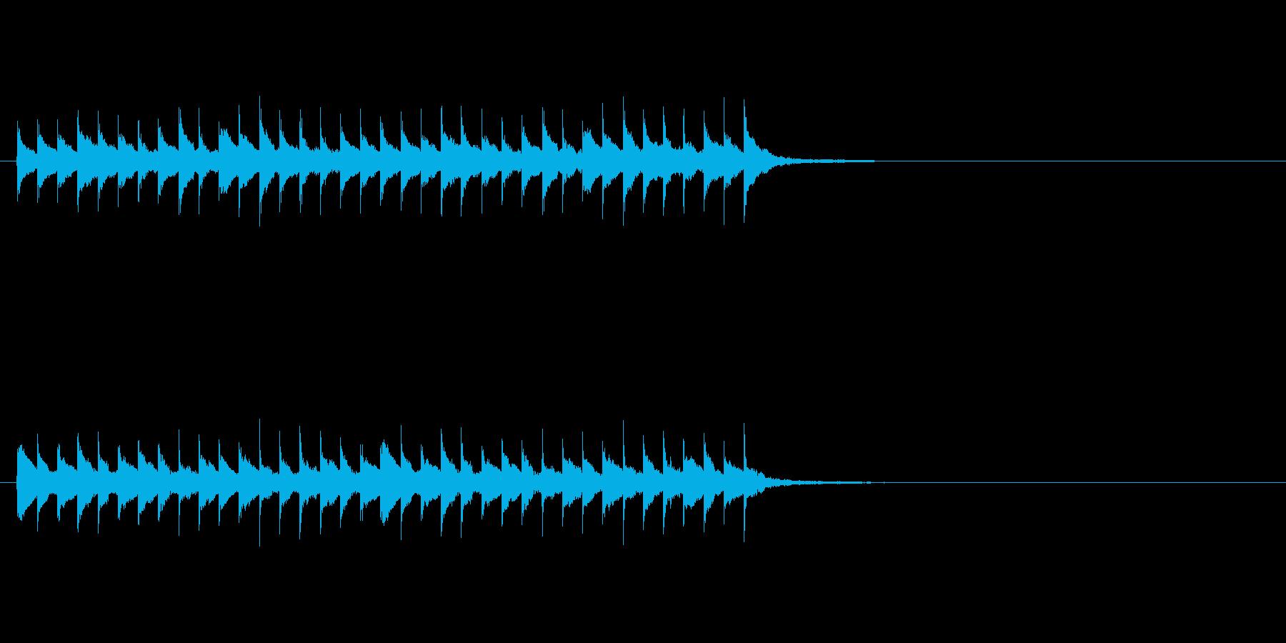 不思議なフレーズのアイキャッチの再生済みの波形