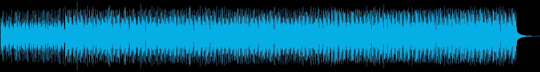 緊迫感のあるミステリアスな楽曲の再生済みの波形