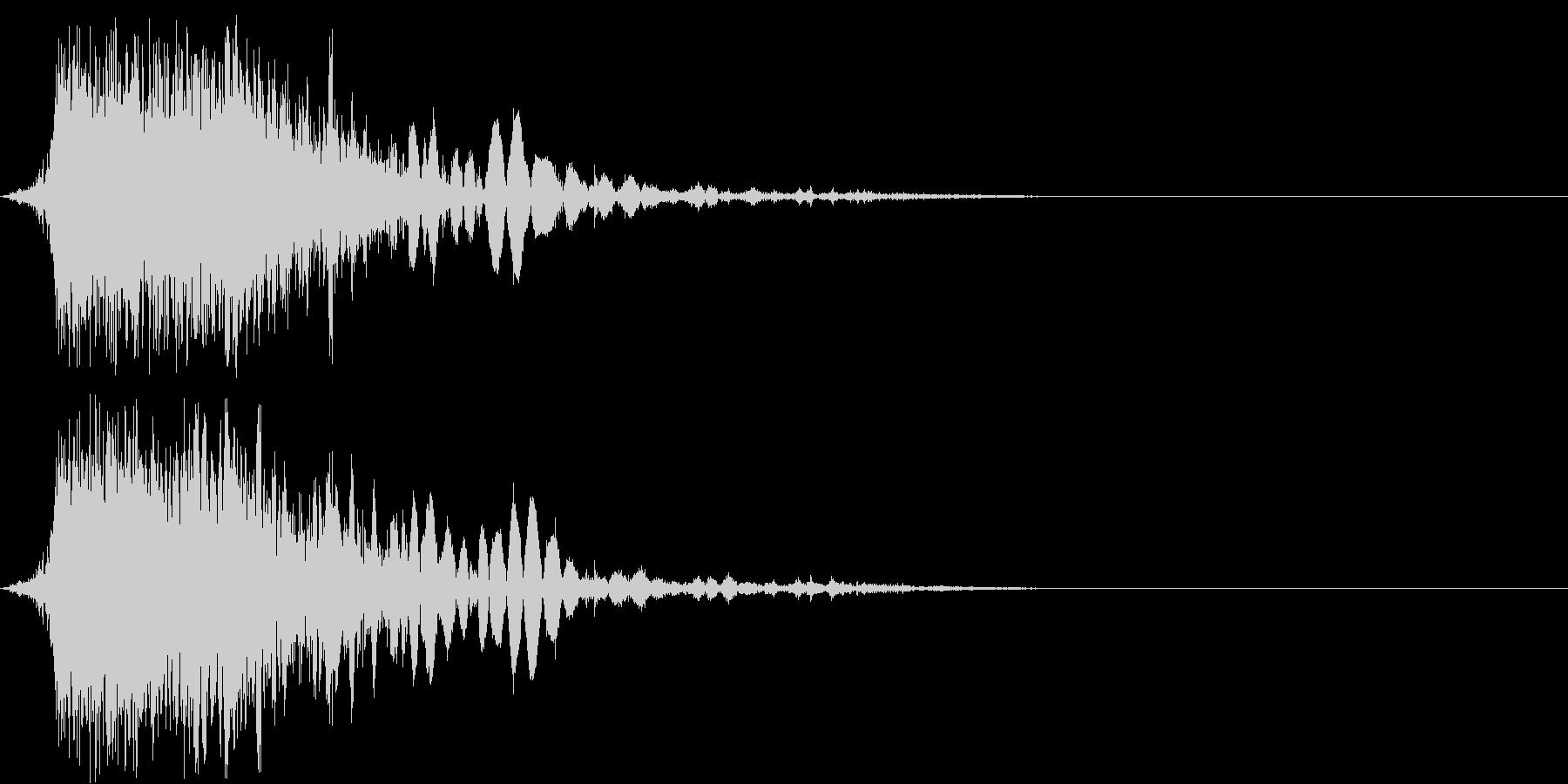 斬撃音(刀や剣で斬る/刺す効果音)06の未再生の波形