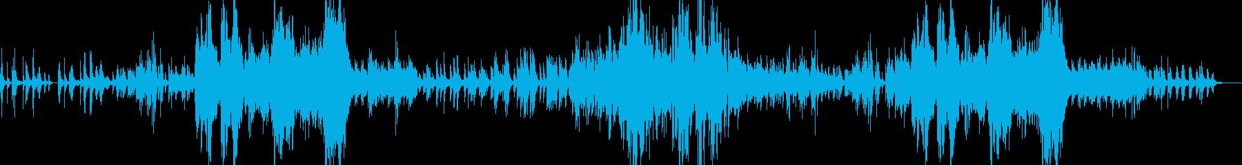 透明感のある音色が印象的なピアノ曲の再生済みの波形