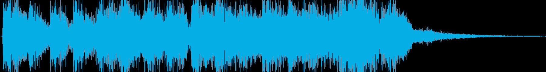 ジングル ゲームオーバー ゲームクリアの再生済みの波形