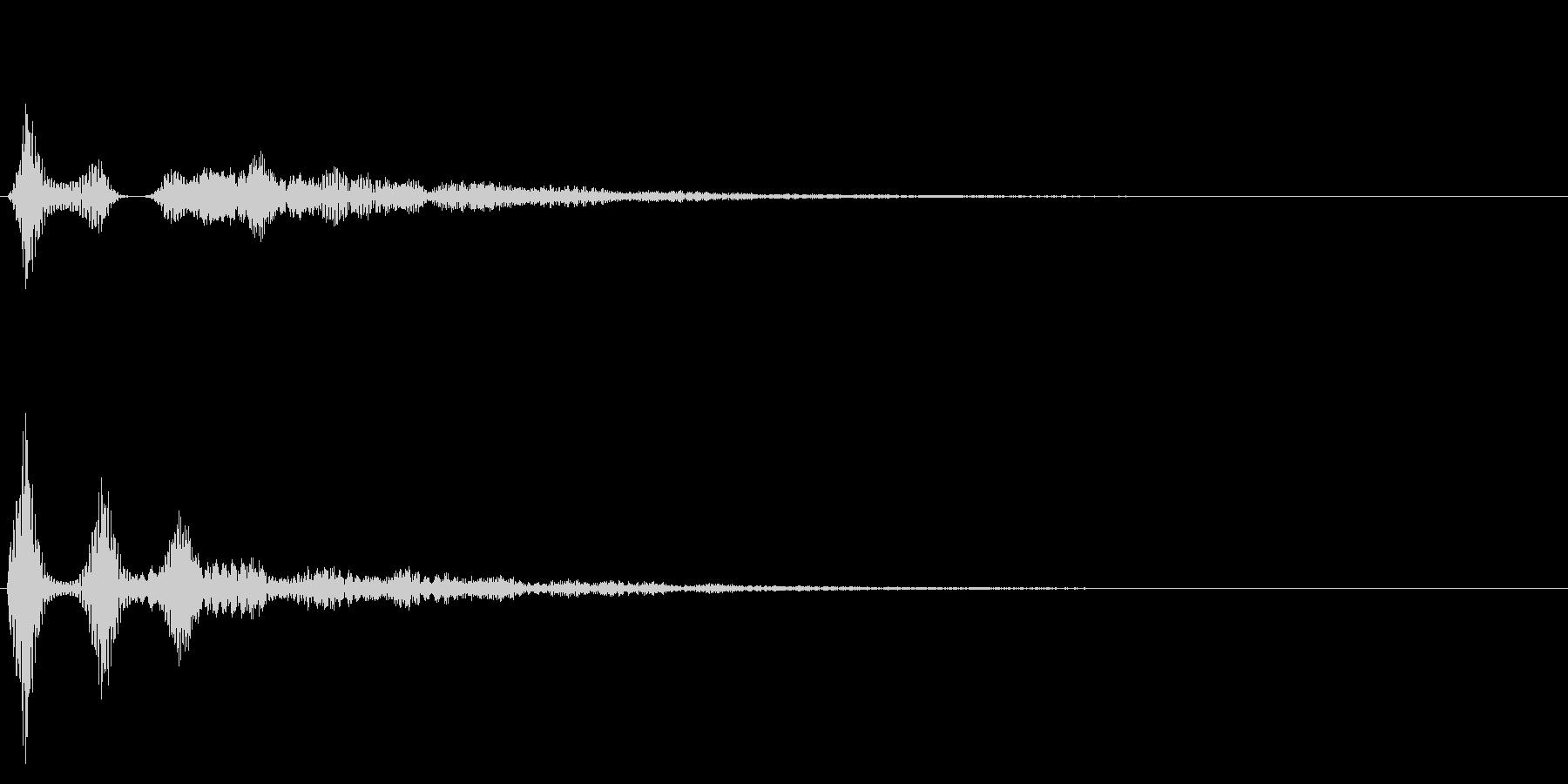 決定音/シンプル/シンセサイザーの未再生の波形