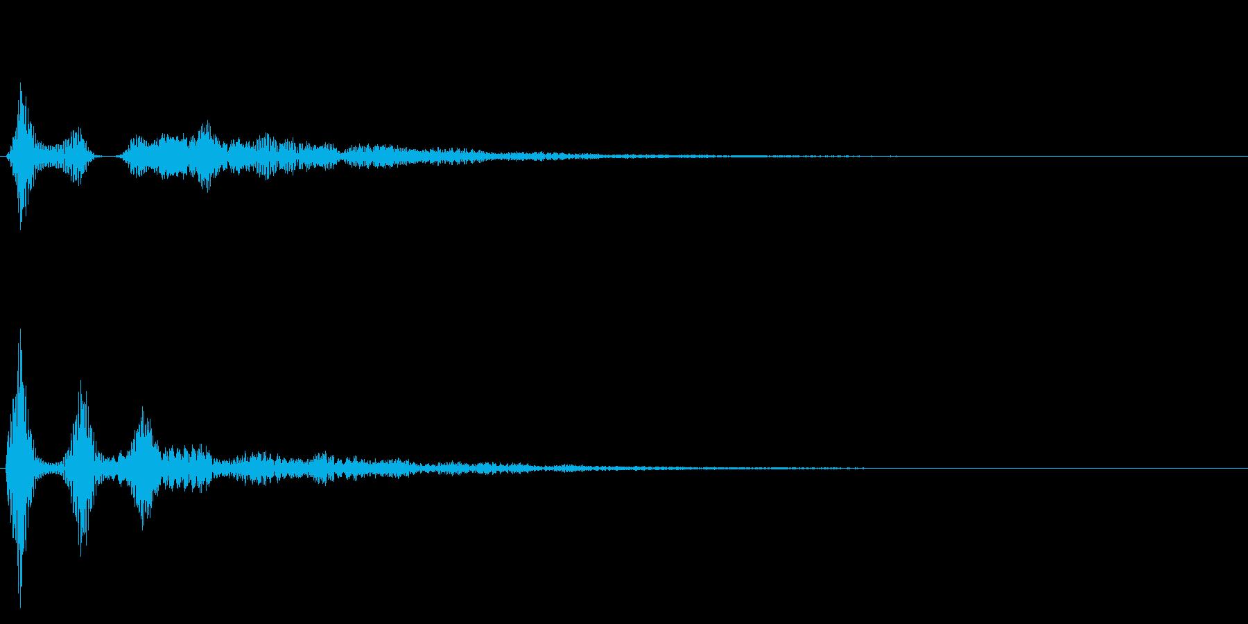 決定音/シンプル/シンセサイザーの再生済みの波形