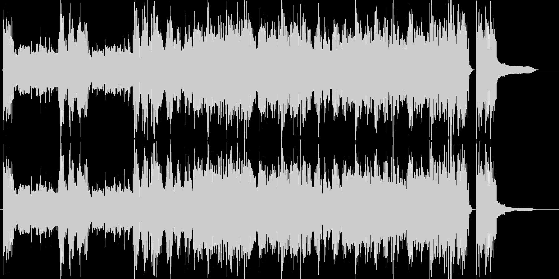 CMロック出囃子オープニング登場BGMの未再生の波形