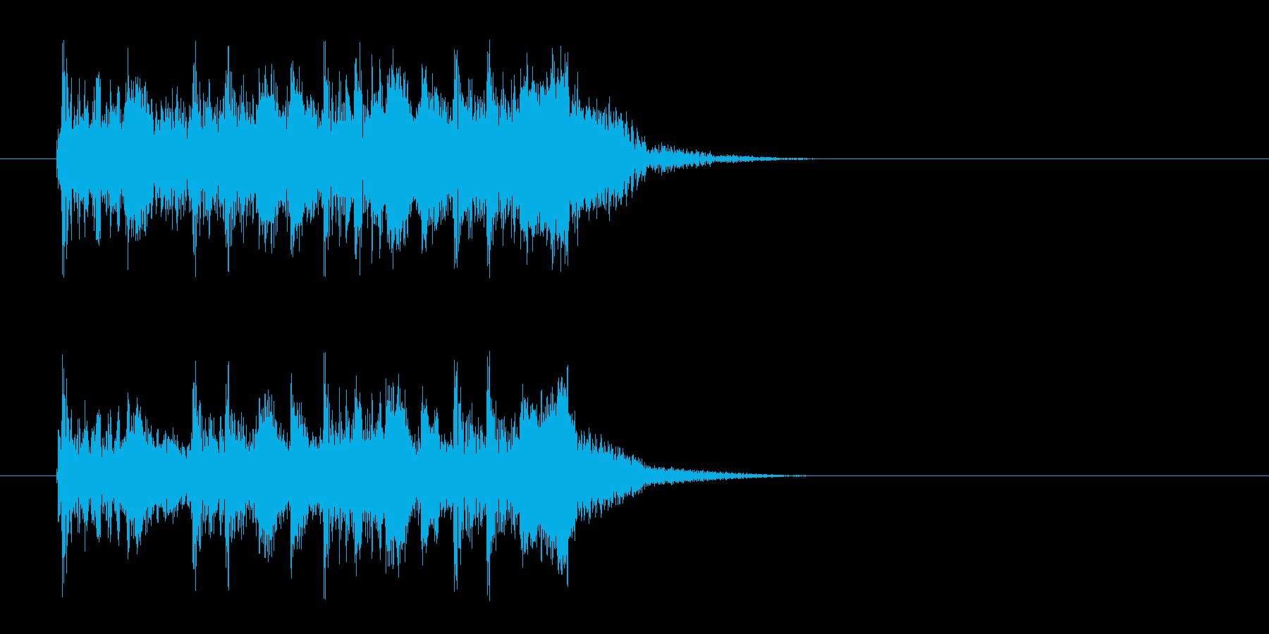 激しいギターのハードロックなジングル曲の再生済みの波形