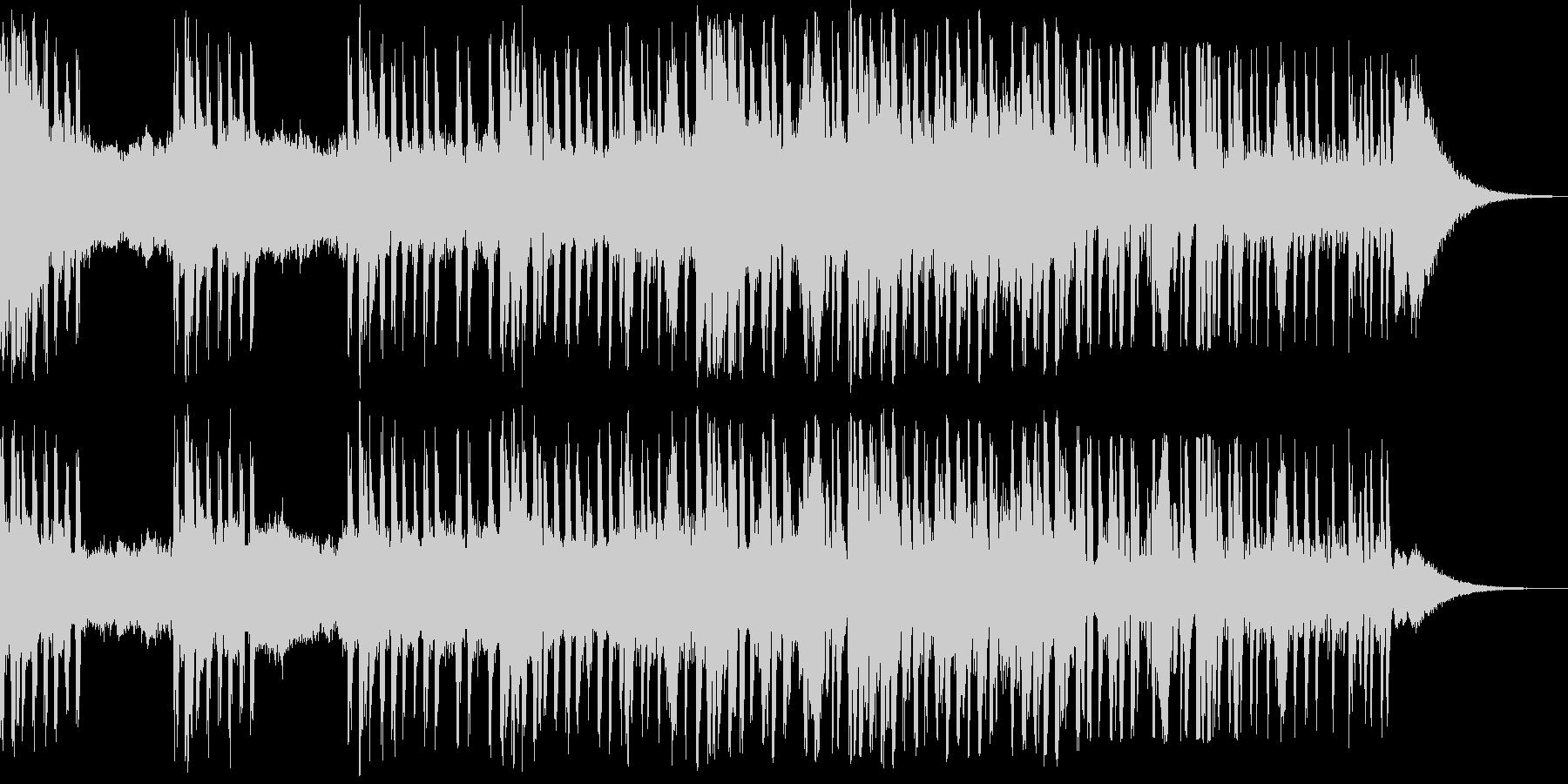 緊迫感のあるビートのきいた曲の未再生の波形