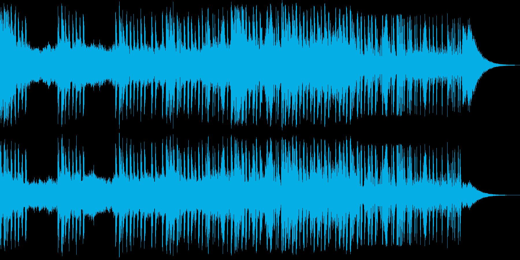 緊迫感のあるビートのきいた曲の再生済みの波形
