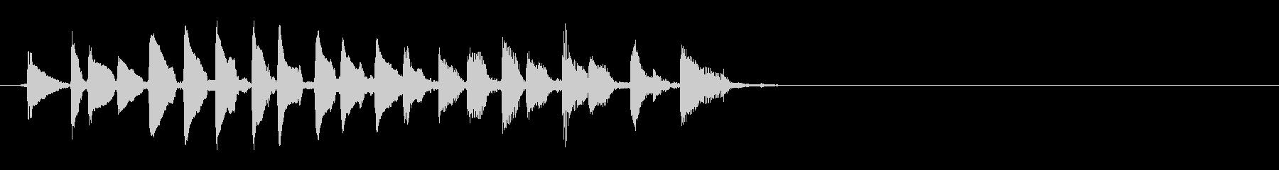 生音 三味線 チリチリ ダウンの未再生の波形