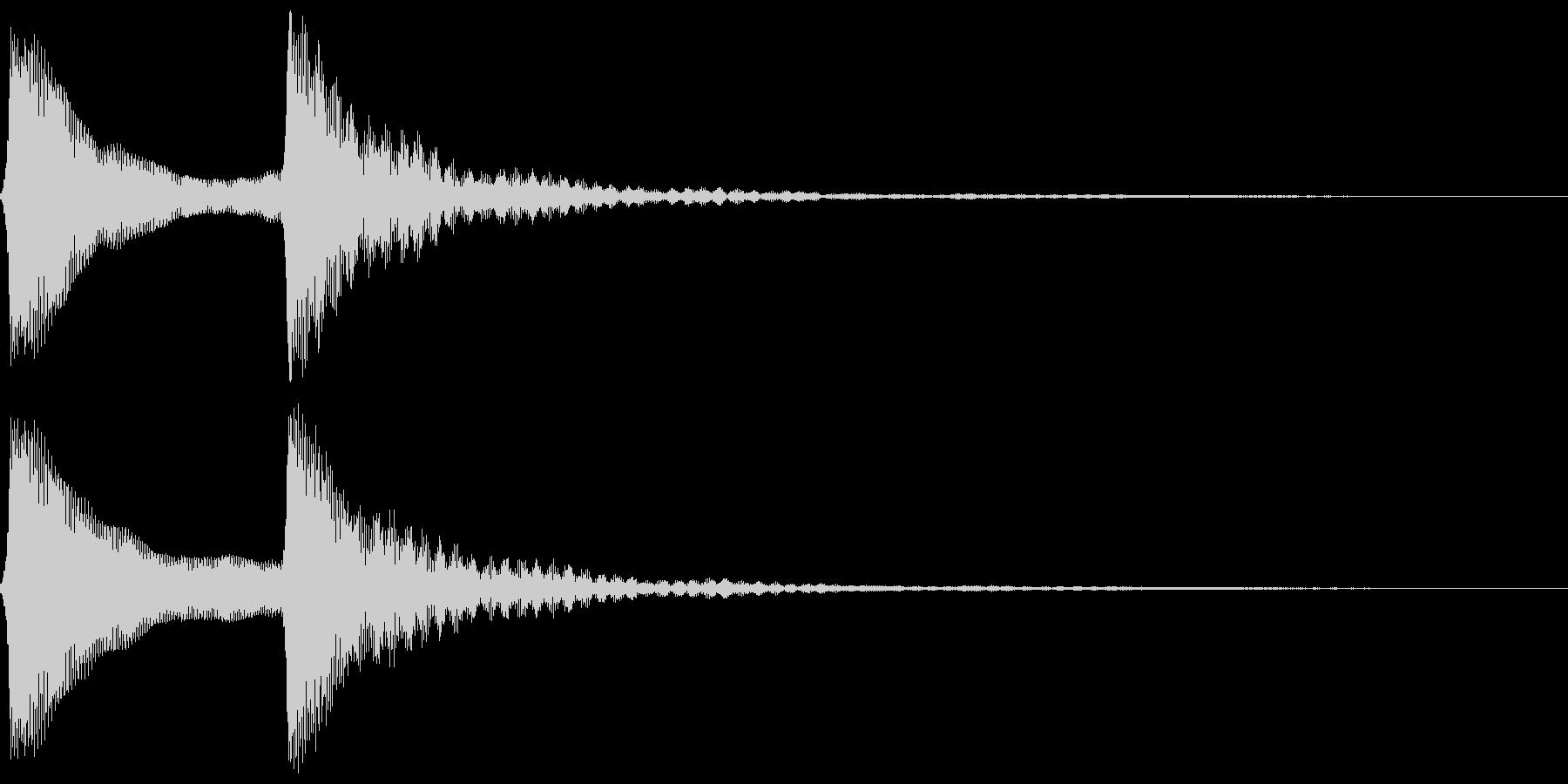 ピンポン。クイズ回答・正解音(低)の未再生の波形