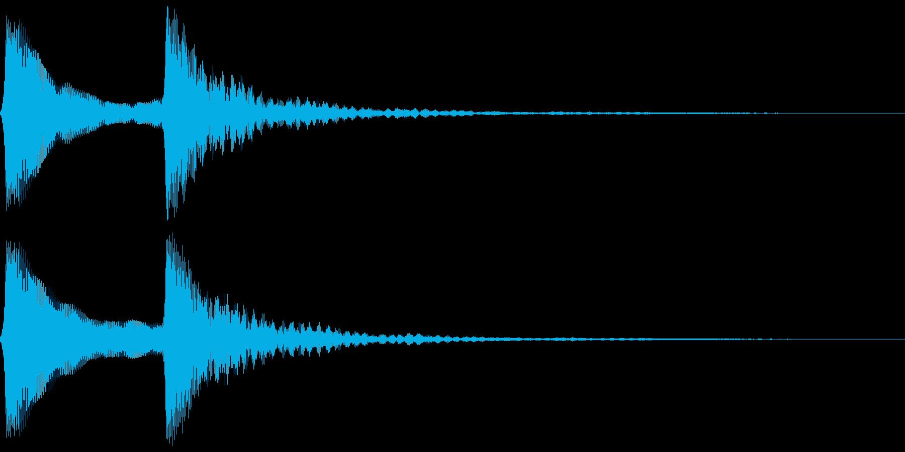 ピンポン。クイズ回答・正解音(低)の再生済みの波形
