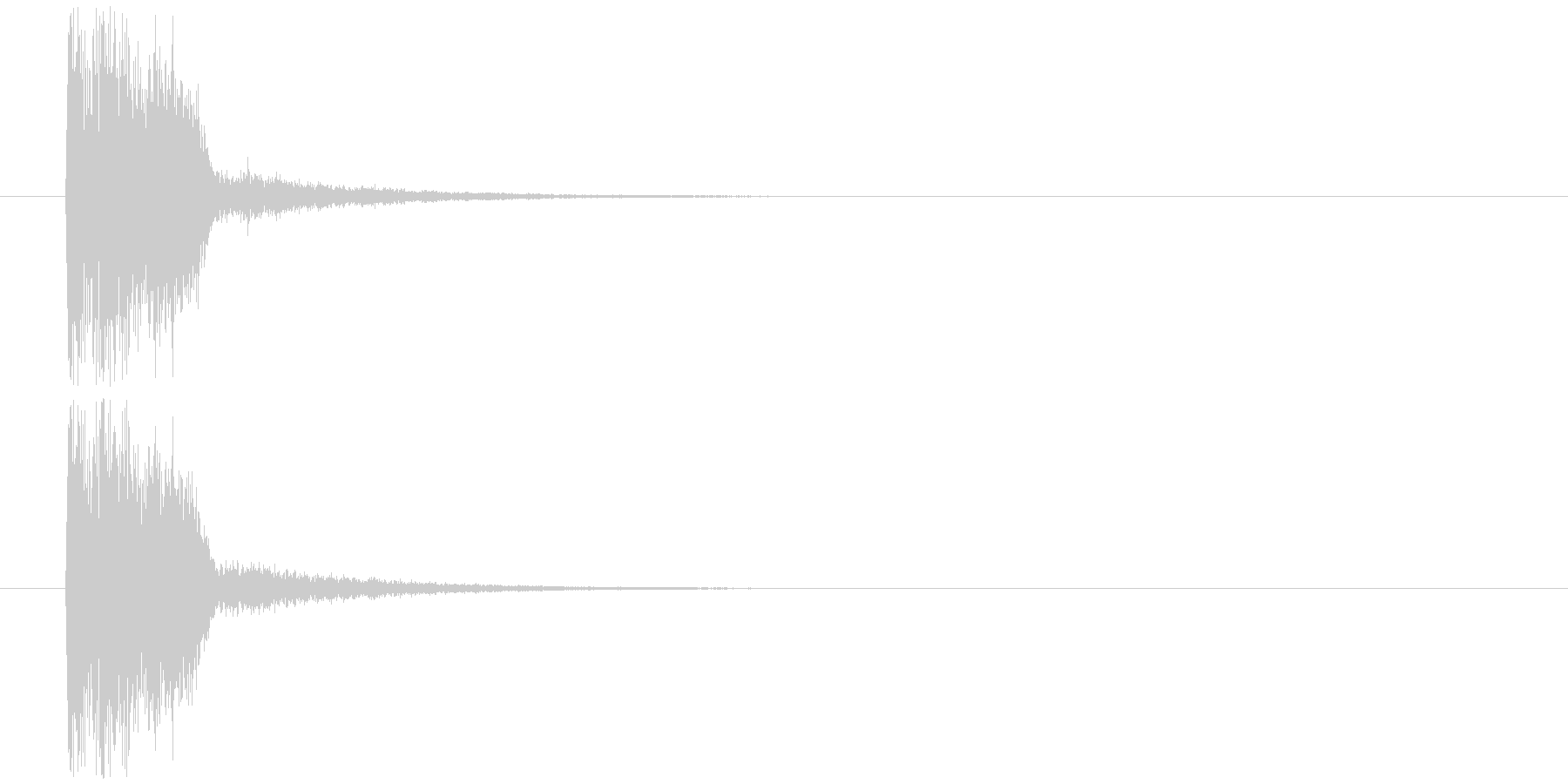 クイズ出題(ウ○トラクイズ風)の未再生の波形