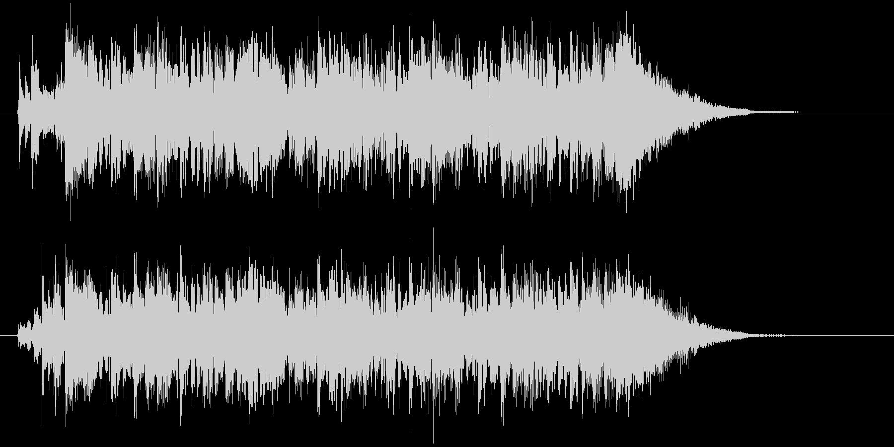 切なくピアノが印象的なBGMの未再生の波形