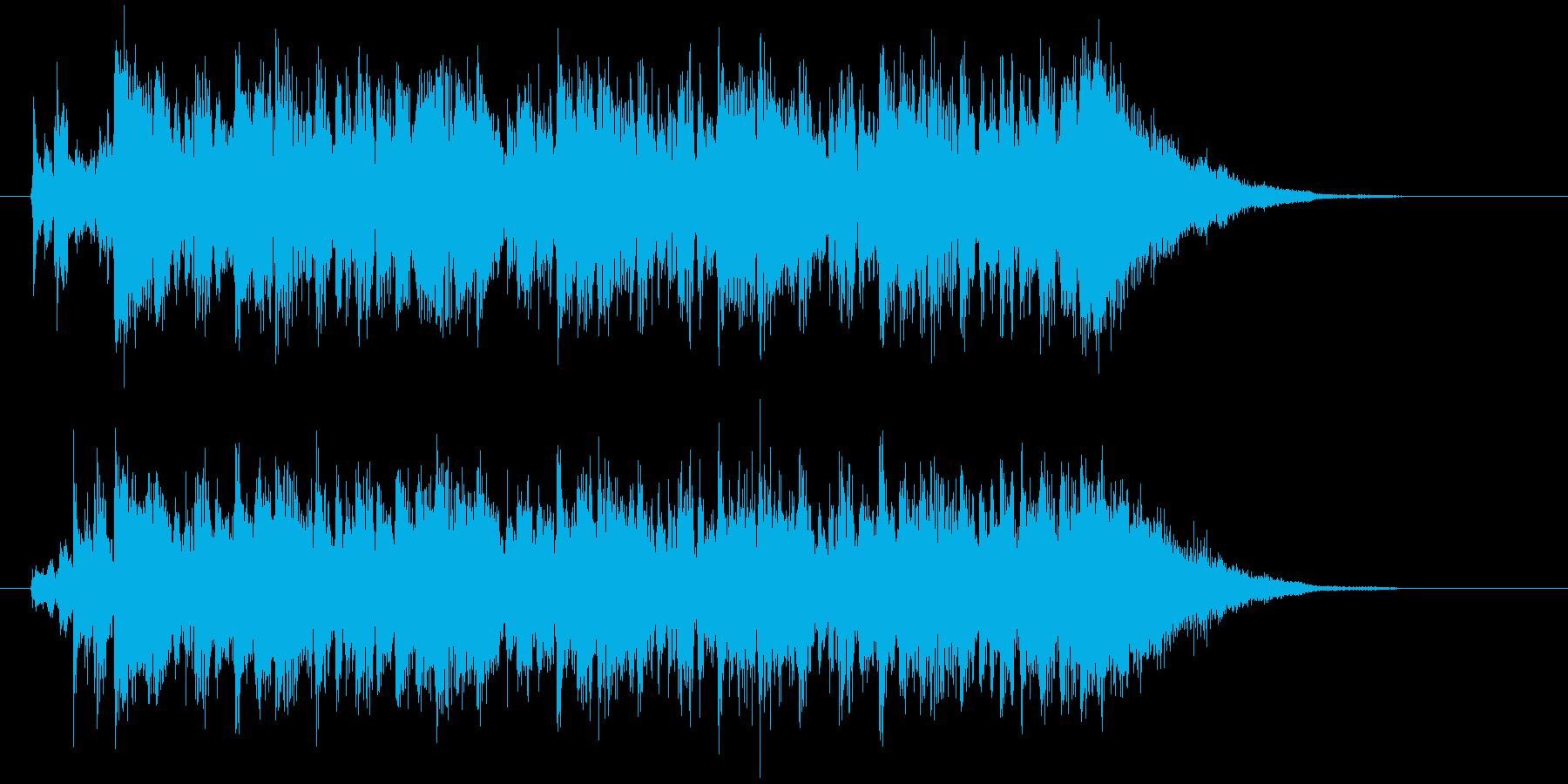 切なくピアノが印象的なBGMの再生済みの波形