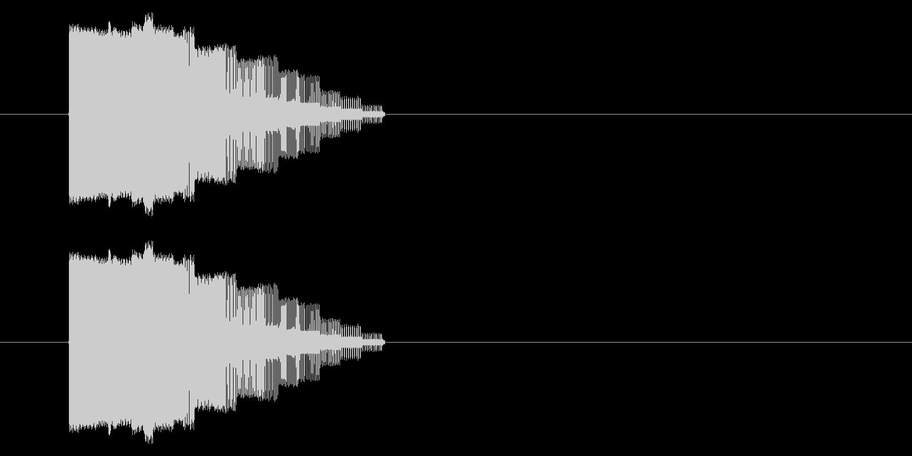 NES アクション01-15(ミス)の未再生の波形