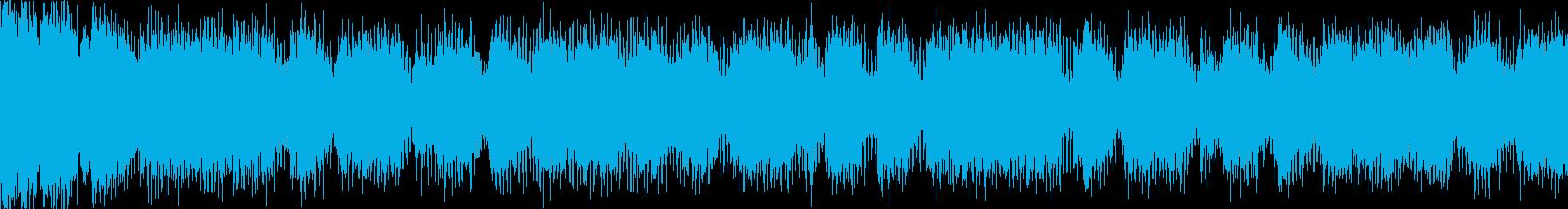 【ループC】ヘヴィーで攻撃的エレキギターの再生済みの波形