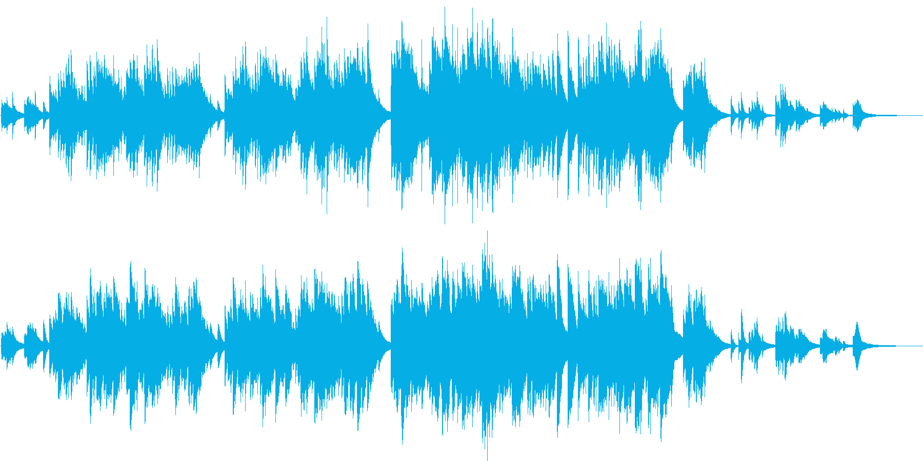 落ち着いた温かいピアノインストの再生済みの波形