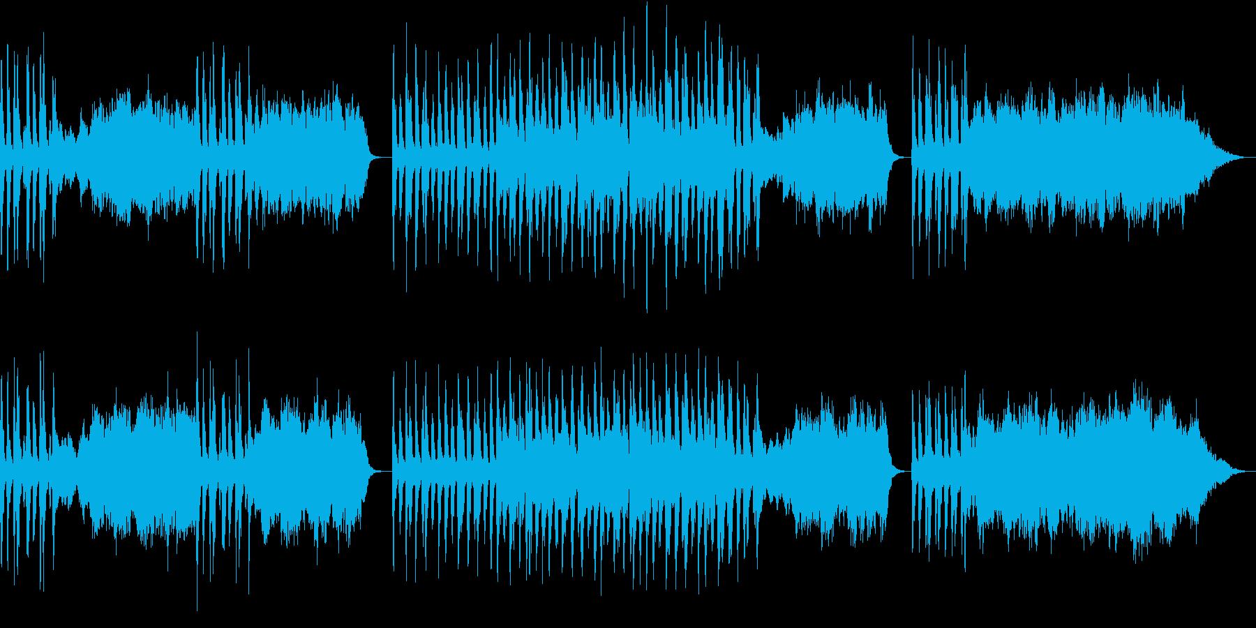 ストリングスとチェンバロのやや暗めな曲の再生済みの波形
