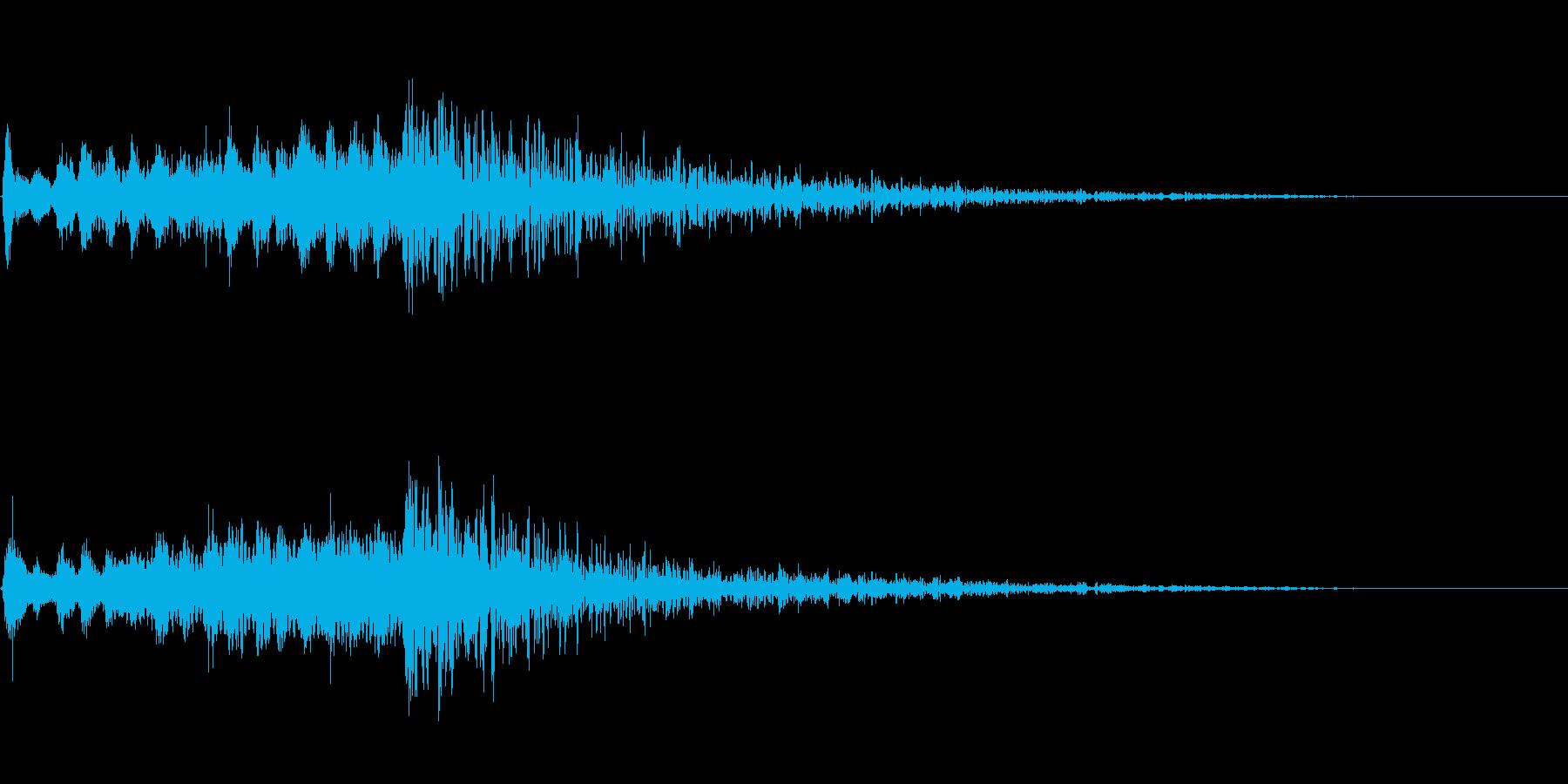 場面転換に最適なストリングスとヒットの再生済みの波形