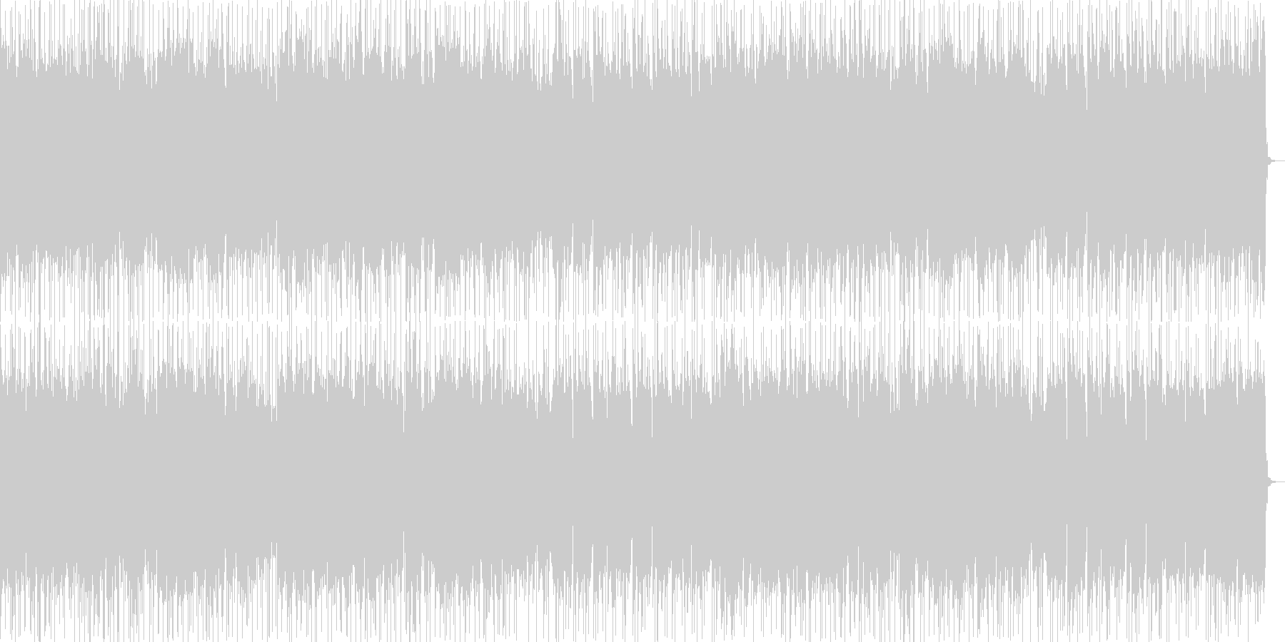 緊張感漂うハードロックの未再生の波形