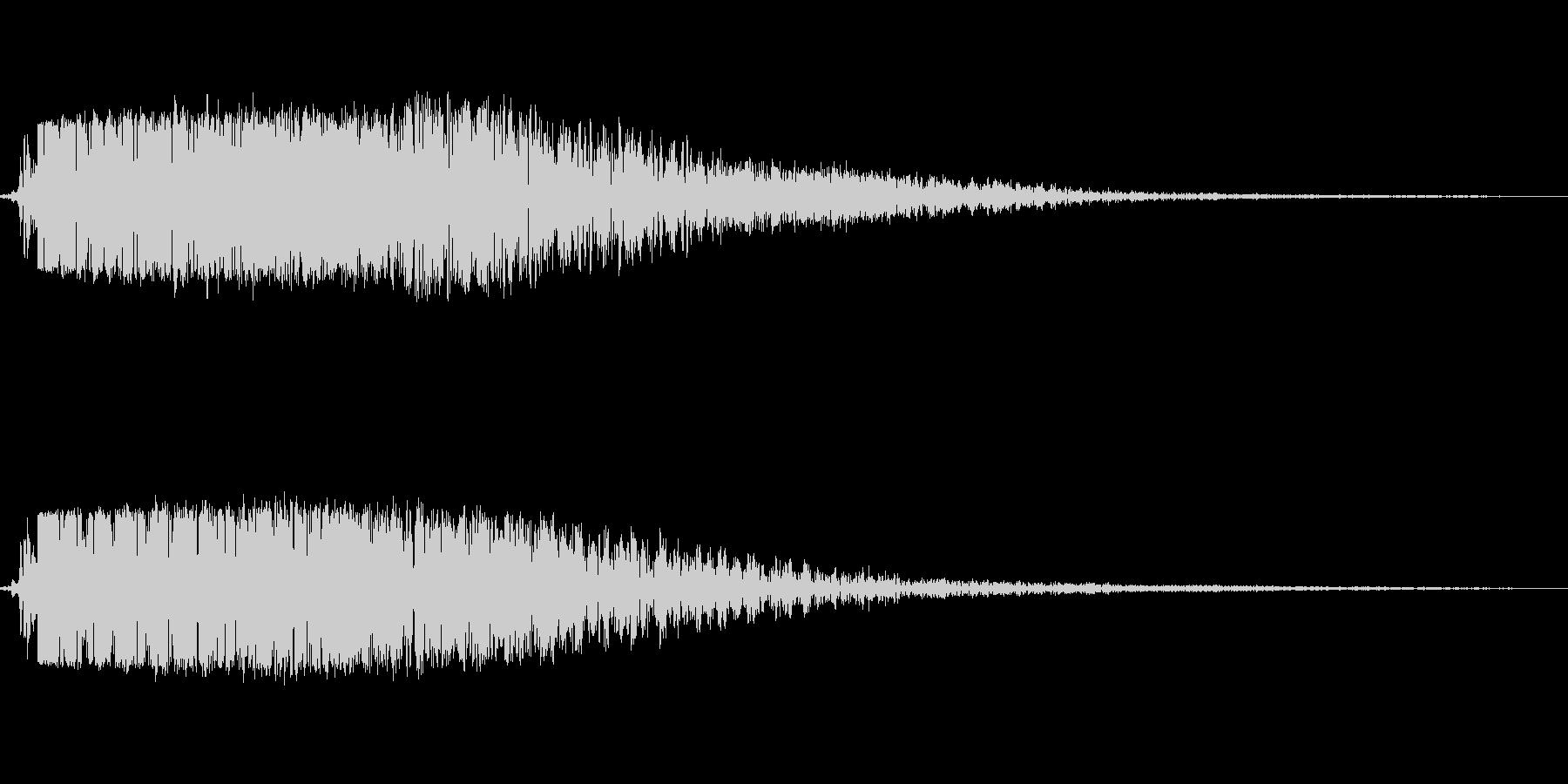 小キック(ローキック)の未再生の波形