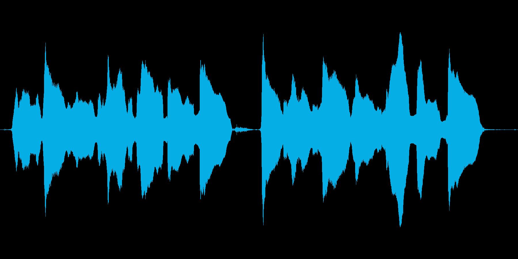 (かわいい歌)の再生済みの波形