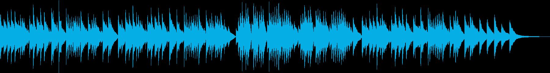 卒業式っぽいピアノ曲の再生済みの波形