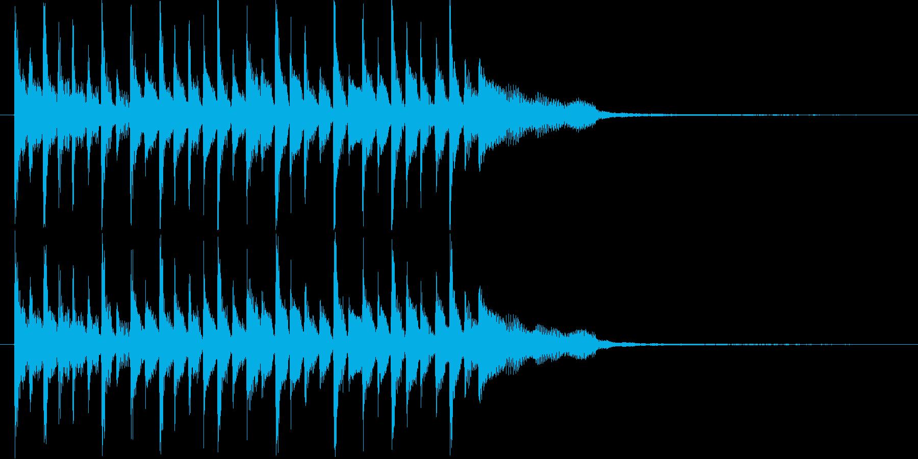 哀愁漂う三味線の再生済みの波形