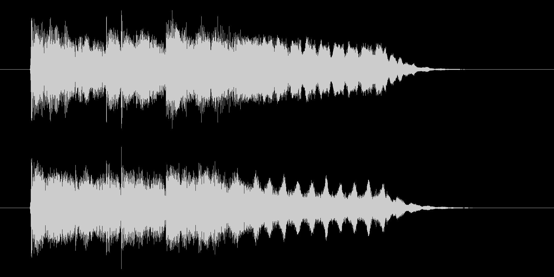 伸びやかなフルートが印象的なBGMの未再生の波形