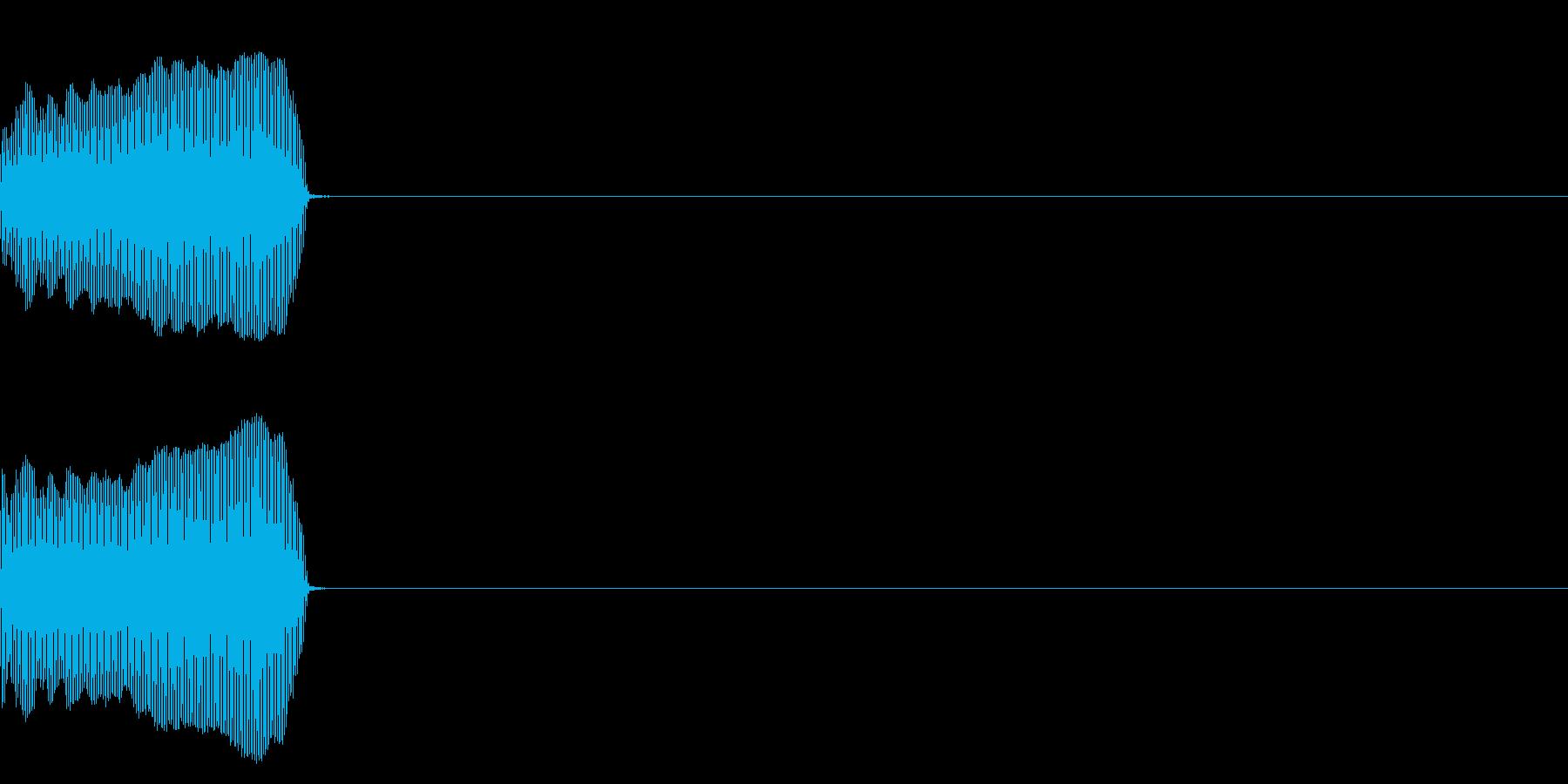 牛の鳴き声(もー)の再生済みの波形