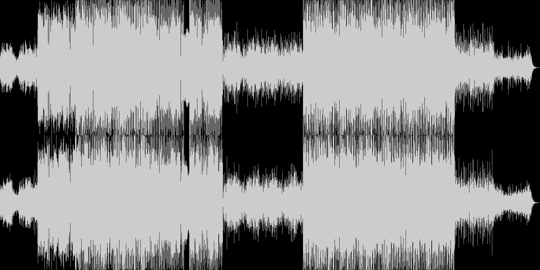 七夕×グルーヴをイメージした曲の未再生の波形