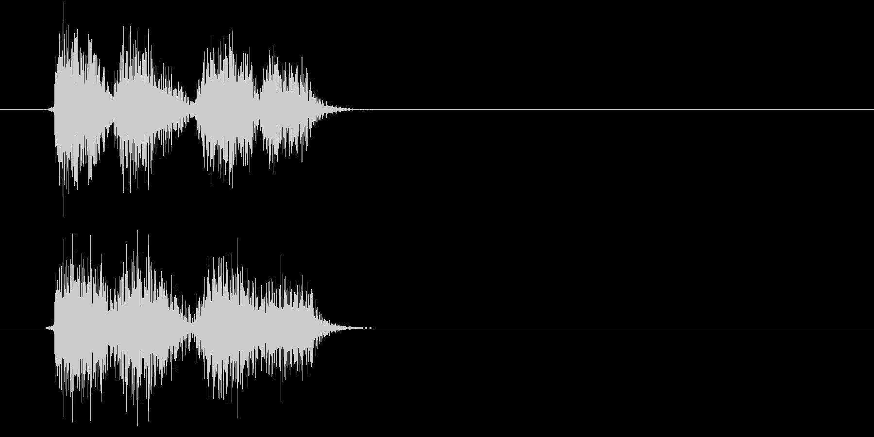 ガシ(決定、ゲーム、アプリ)の未再生の波形