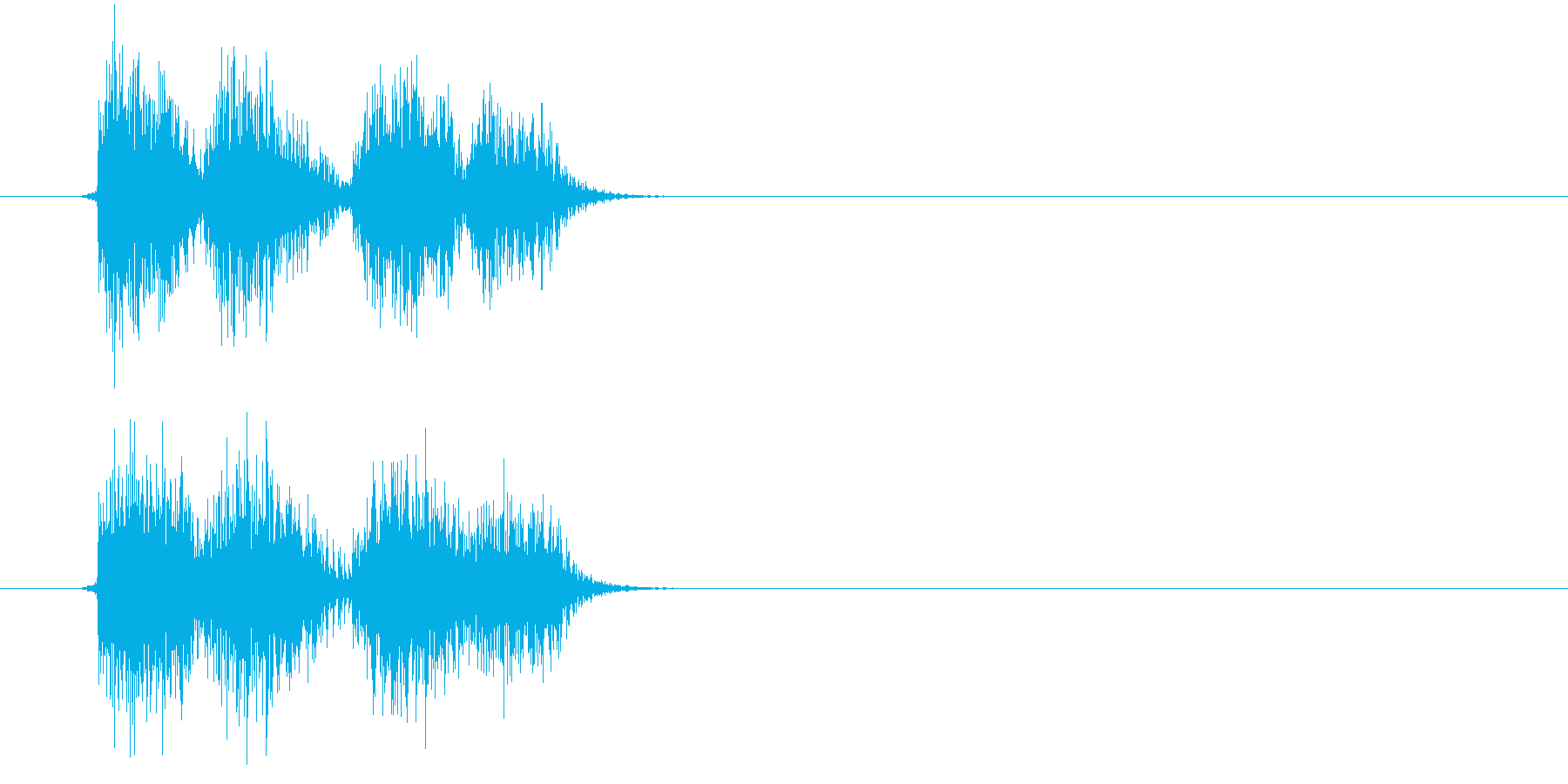 ガシ(決定、ゲーム、アプリ)の再生済みの波形