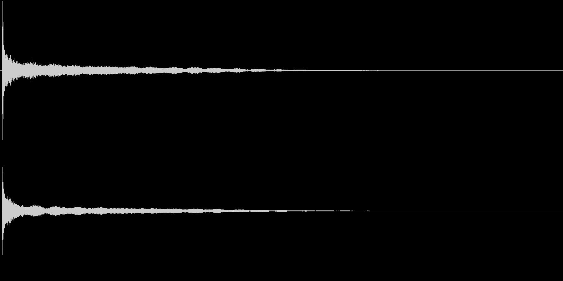 音侍SE「カーン」シンギングボウルの音の未再生の波形