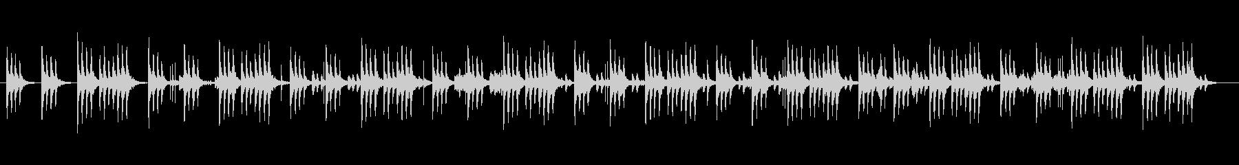 可愛く優しいシンセサイザーサウンドの未再生の波形