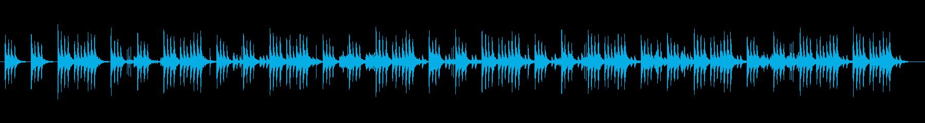 可愛く優しいシンセサイザーサウンドの再生済みの波形