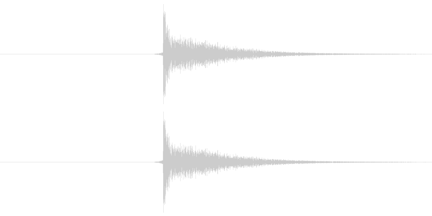 パチッ!という音です。将棋の駒音などに…の未再生の波形