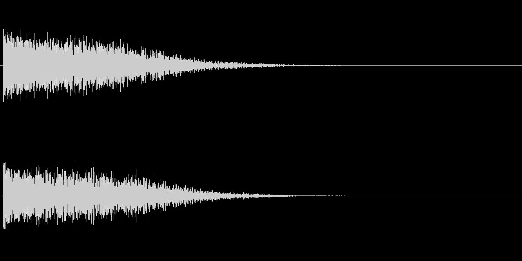 ハリウッド風効果音の未再生の波形