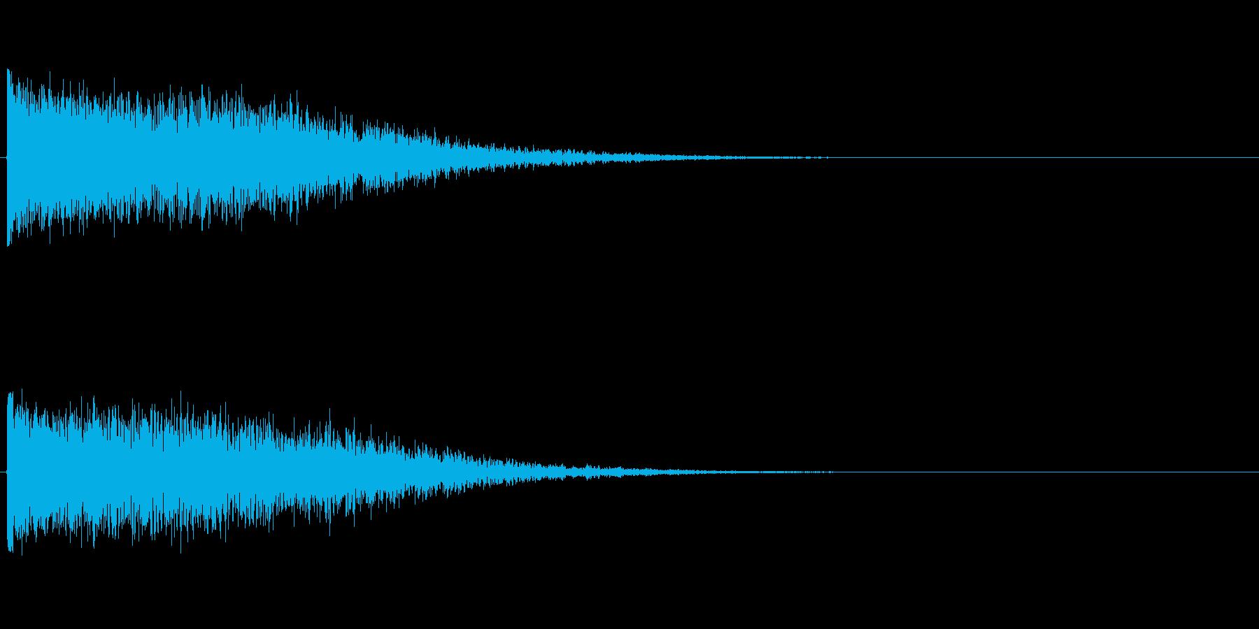ハリウッド風効果音の再生済みの波形