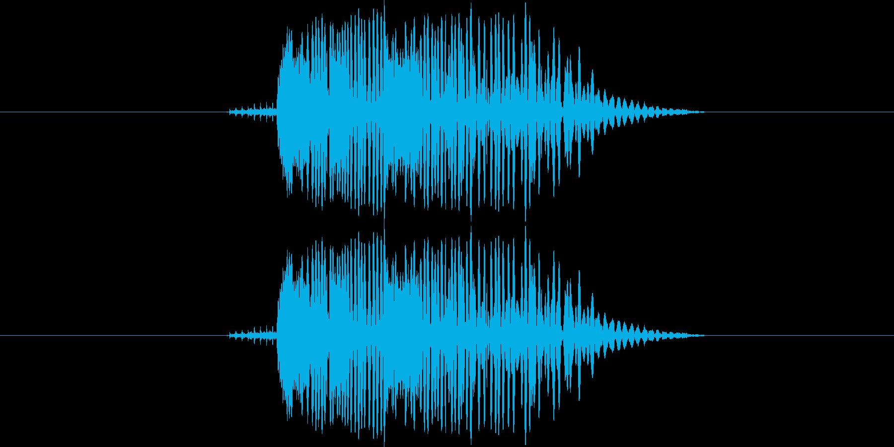 ガコン(シーンチェンジ音)の再生済みの波形