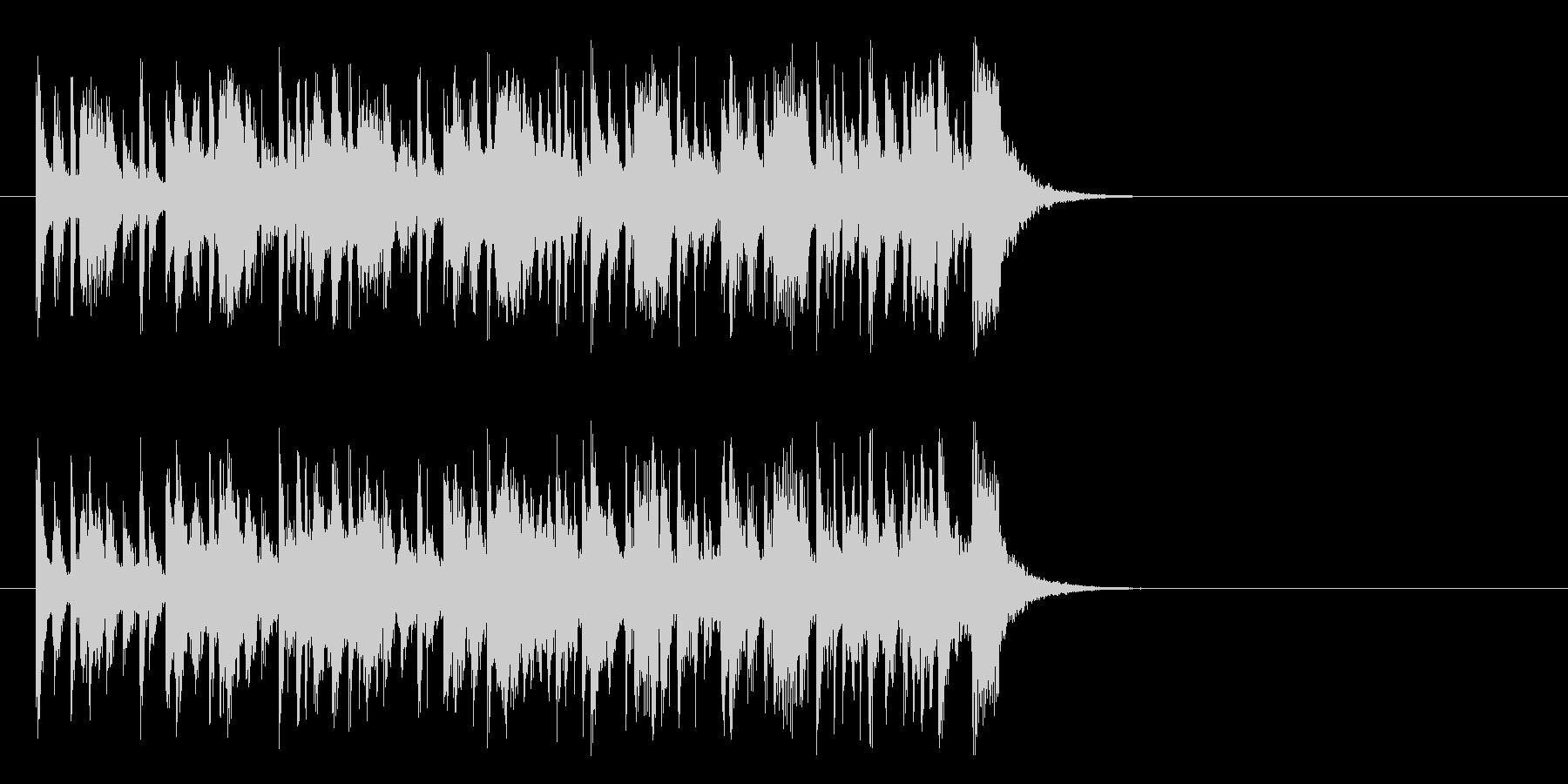 前向きなフュージョン(イントロ)の未再生の波形