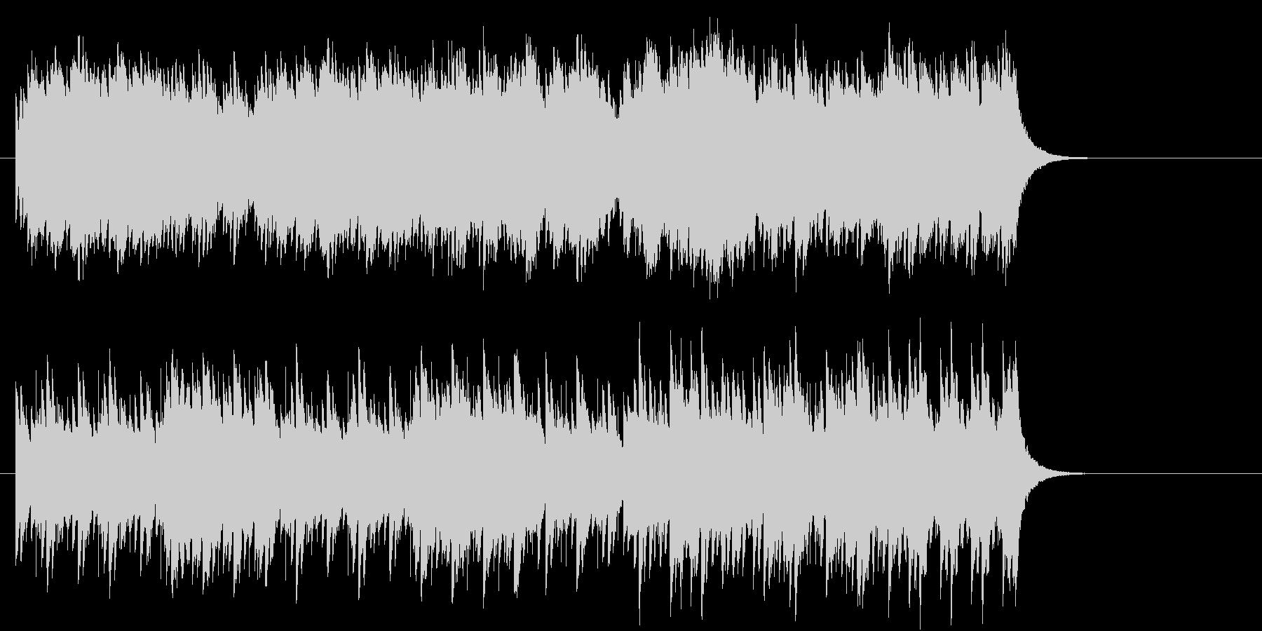 キラキラしたBGMの未再生の波形