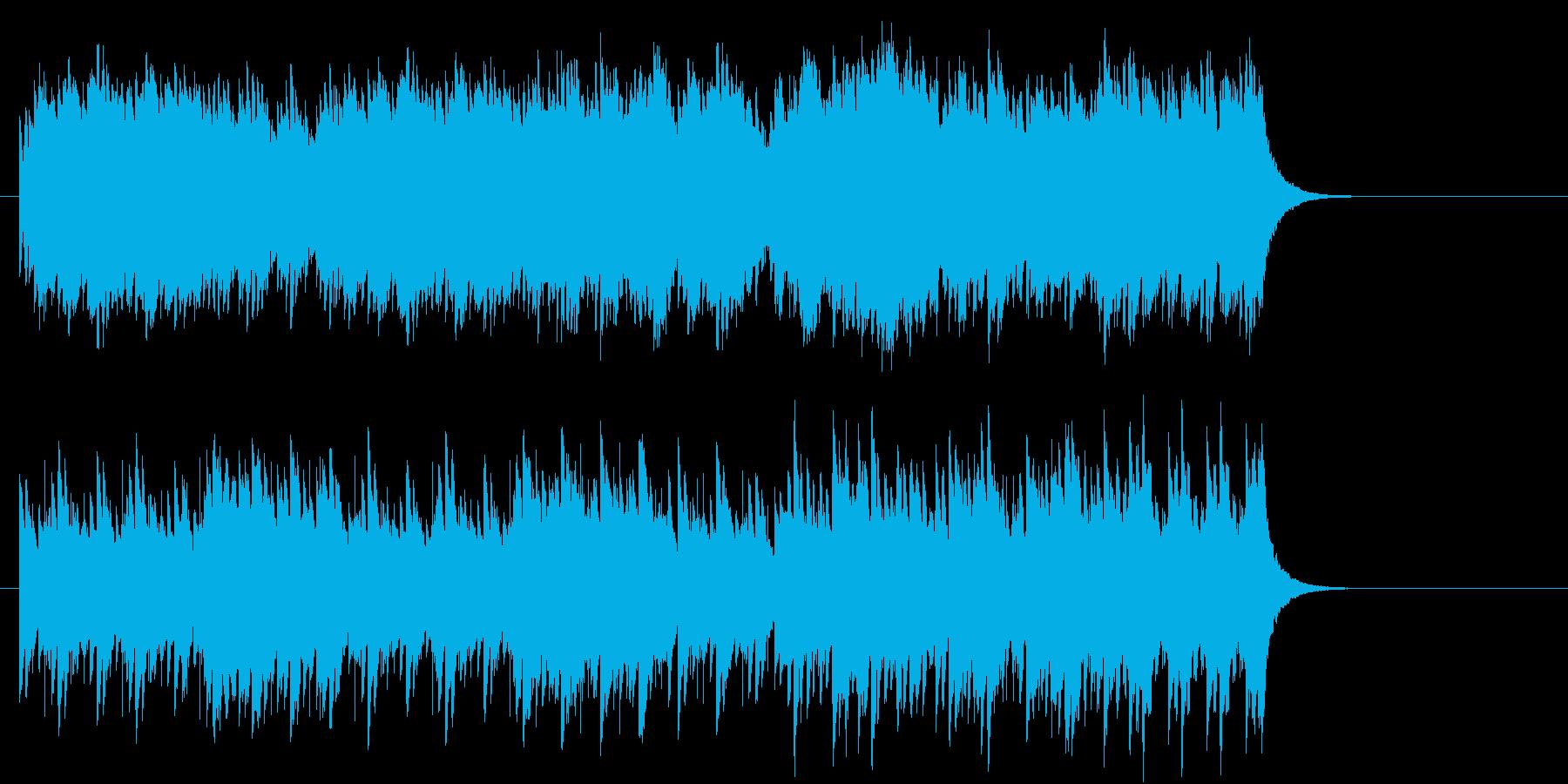 キラキラしたBGMの再生済みの波形