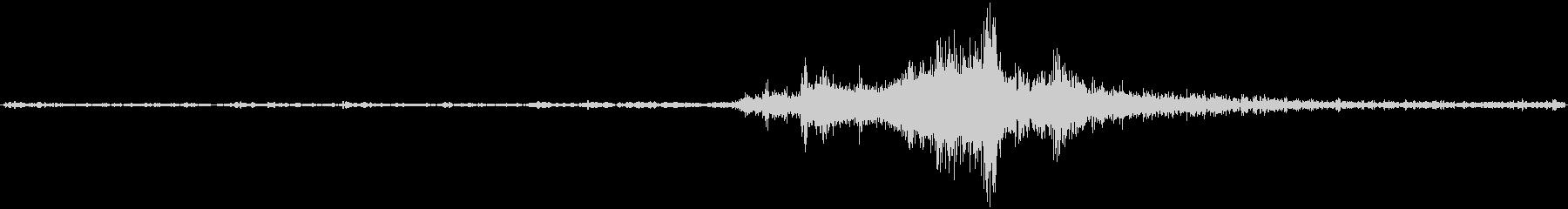 バイノーラル録音戦闘機3の未再生の波形
