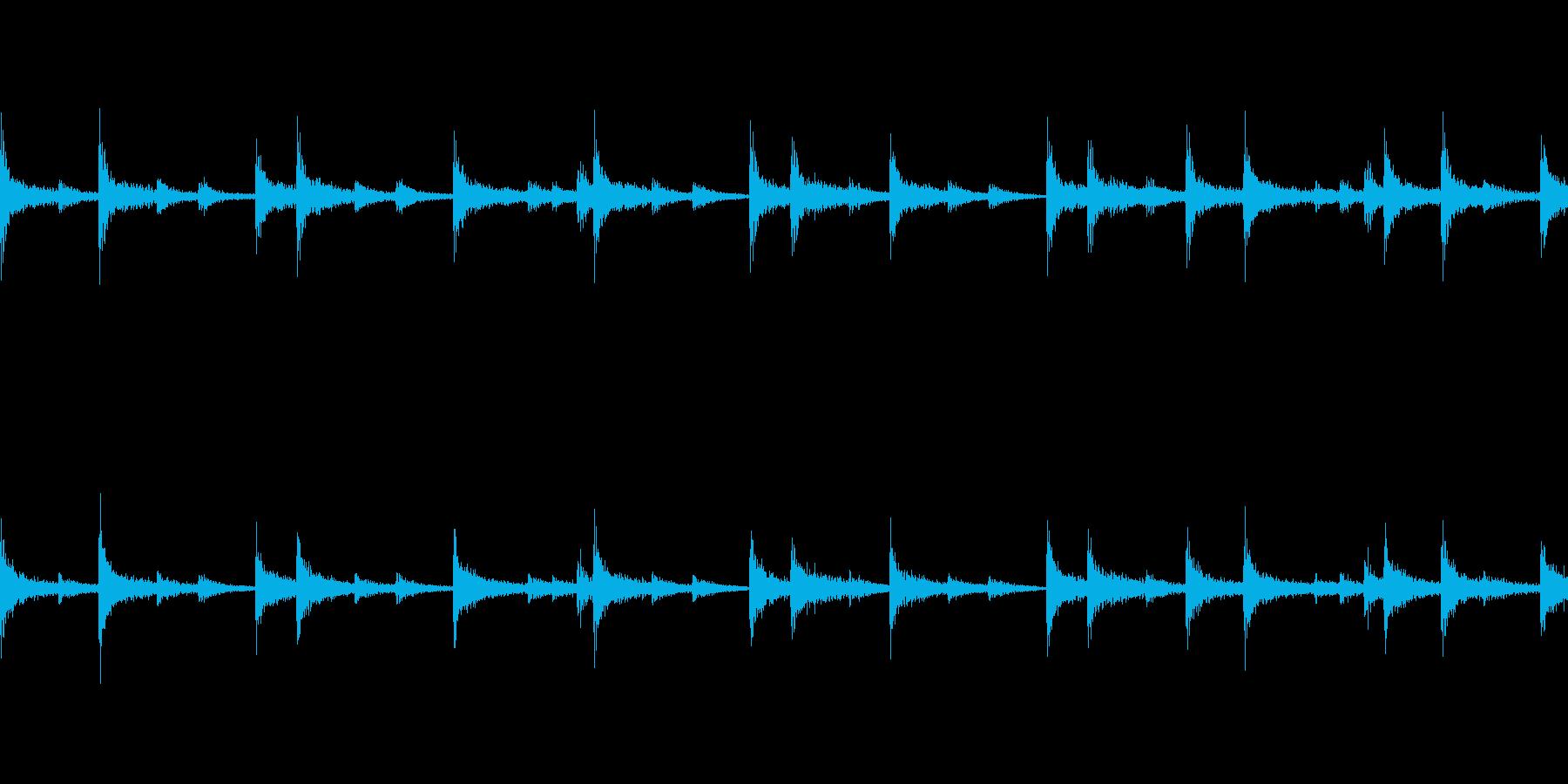 スネア軽快ファンクフレーズ(ループ可)の再生済みの波形