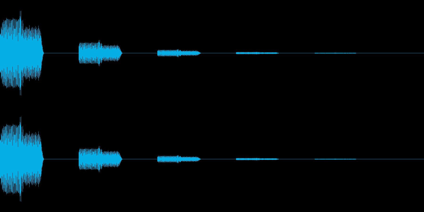 ゲーム決定、選択、 一時停止音 ピローンの再生済みの波形